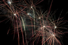 Fuegos artificiales por todas partes Imágenes de archivo libres de regalías
