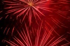 Fuegos artificiales rojos Imagenes de archivo
