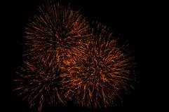 Fuegos artificiales rojos Imagen de archivo libre de regalías