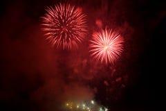 Fuegos artificiales rojos Foto de archivo