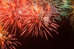 Fuegos artificiales rojos Fotos de archivo libres de regalías