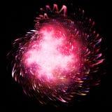 Fuegos artificiales rosados