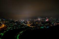 Fuegos artificiales sobre Sarajevo Imágenes de archivo libres de regalías