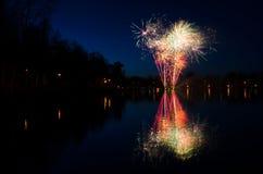 Fuegos artificiales suecos Foto de archivo libre de regalías