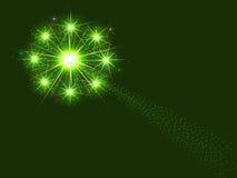 Fuegos artificiales verdes Imagenes de archivo