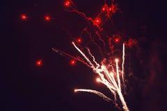 Fuegos artificiales y bokeh en Noche Vieja Fotografía de archivo