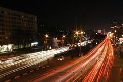 Fuegos de la noche Fotos de archivo libres de regalías