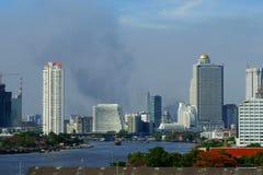 Fuegos en Bangkok imagen de archivo libre de regalías