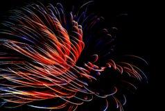 Fuegos en la noche Foto de archivo libre de regalías
