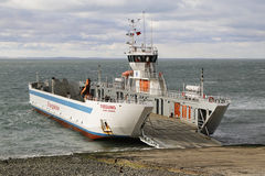 Fueguino ferry at Bahia Azul, Chile. Stock Image