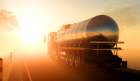Fuel. Truck to transport fuel Royalty Free Stock Photos