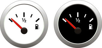 Fuel. Indicator Illustration on white background stock illustration