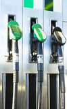 Fuel. Close up of fuel pump at fuel/oil station Royalty Free Stock Photography
