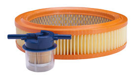 Fuel and air filters Royalty Free Stock Images