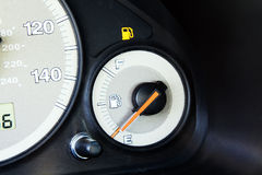 Fuel bulb in the car. Bulb in the car, showing about necessity to make refuelling of the car by fuel Stock Photography