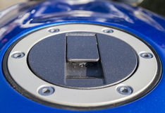 Fuel cap on motorbike Royalty Free Stock Image