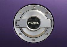 Fuel cap 0n tuning car. Metal lock and bolts Stock Photos
