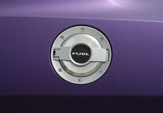 Fuel cap 0n tuning car. Stock Photos