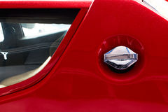 Fuel cap of  old sports car Royalty Free Stock Images
