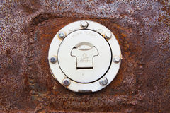 Fuel cap with rust Royalty Free Stock Images