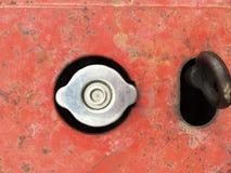 Fuel cap on tuning car. Close up fuel cap on tuning car Royalty Free Stock Photos