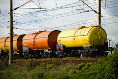 Fuel car. Three fuel cart's on a truck Stock Photo