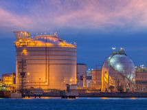 Fuel and cargo complex in port Stock Photography