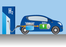 Fuel Cell Car and Hydrogen station Stock Images