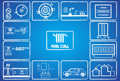 Fuel cell energy Stock Image
