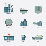 Fuel cell icon Stock Photo
