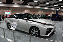 Fuel cell Toyota MIRAI on display at the Motor Show exhibition Stock Photography