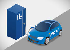 Fuel Cell Vehicle(FCV) illustration Stock Photo