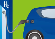 Fuel Cell Vehicle and Hydrogen Station Royalty Free Stock Images