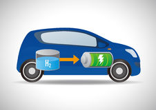 Fuel Cell Vehicle and Hydrogen Station Royalty Free Stock Photos