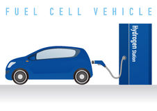 Fuel Cell Vehicle and Hydrogen Station Stock Images