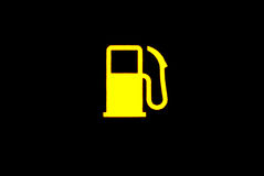 Fuel check light Royalty Free Stock Photography