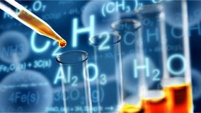 Fuel chemistry. Health oil closeup test experiment technician Stock Photos