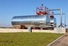 Fuel cistern. Fuel storage cistern on the open air royalty free stock image