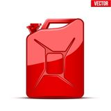 Fuel container canister jerrycan. Stock Image