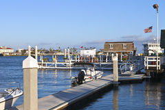Fuel depot for boats San Pedro California. Stock Images