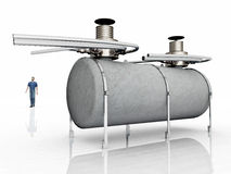 Fuel depot. Computer generated 3D illustration with a fuel depot against a white background Royalty Free Stock Photos