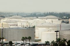 Fuel depots under terrorist threat in the US Royalty Free Stock Images