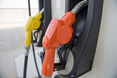 Fuel dispenser at a gasoline station Royalty Free Stock Images
