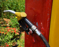 Fuel dispenser at a gasoline station Pump in oil station Stock Images