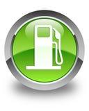Fuel dispenser icon glossy green round button Royalty Free Stock Photos
