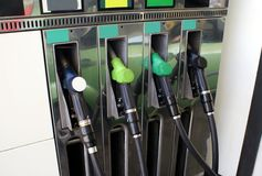 Fuel dispenser. nozzles. fuel pump. bowsers. petrol pumps. gas pumps Royalty Free Stock Photo
