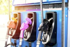 Fuel Dispenser, Oil power is very important in driving the economy. Most cars will require fuel oil, Oil power is very important in driving the economy, Fuel Royalty Free Stock Images