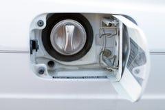 Fuel door on car Stock Photo