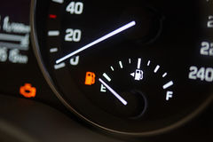 Fuel economy theme. Empty car gas tank stock photography