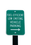 Fuel Efficient parking sign Stock Photo